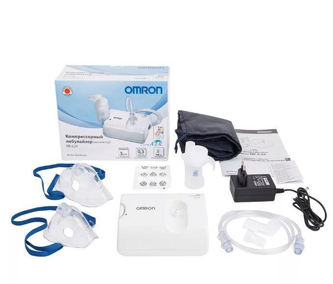Лучший недорогой компрессорный ингалятор небулайзер Omron Comp Air NE-C24, отзывы