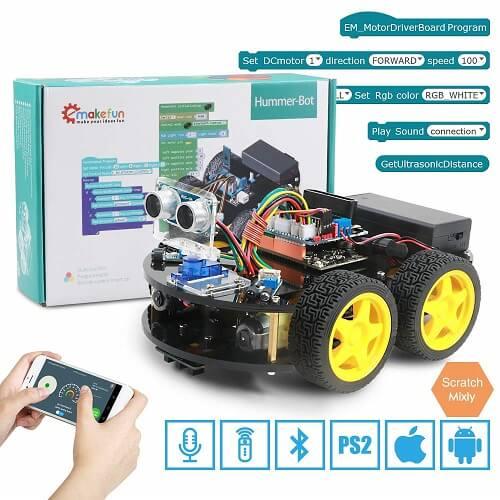 Обучающий робот автомобиль Emakefun для Arduino Robot 4WD, с дистанционным управлением