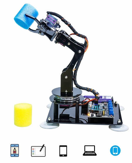 Роботизированная рука с DIY 5-осевым роботизированным рычагом, для Arduino UNO R3