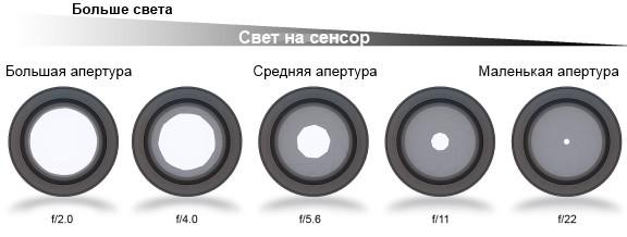 Что такое диафрагма (апертура) фотоаппарата и объектива