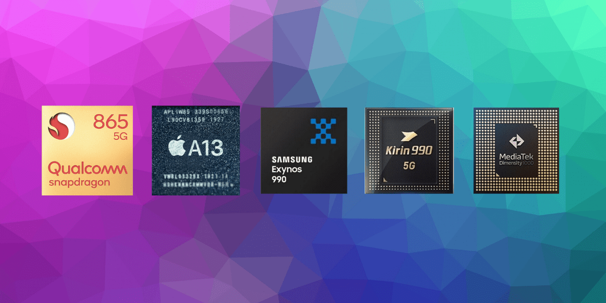 Snapdragon 865 vs Kirin 990 5G vs Apple A13 Bionic vs Exynos 990 Сравнение процессоров