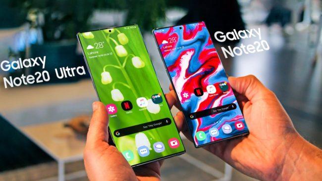 Galaxy Note20 vs Note20 Ultra сравнение, отличия
