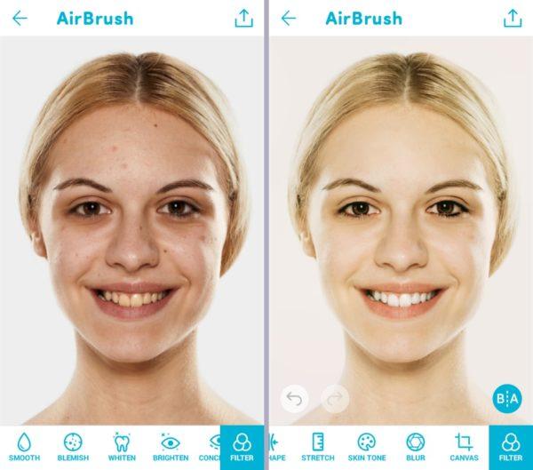 AirBrush приложение для редактирования фото на телефоне