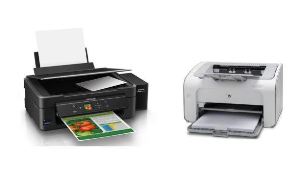 какой принтер для дома лучше лазерный или струйный