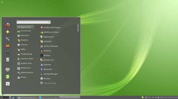 среда рабочего стола Linux Mint