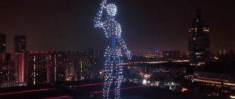 Световые шоу дронов в Китае