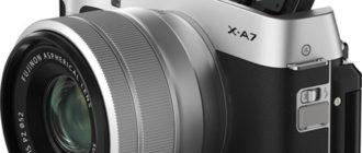 Fujifilm X-A7 обзор фотоаппарата, характеристики, отличие от X-A5