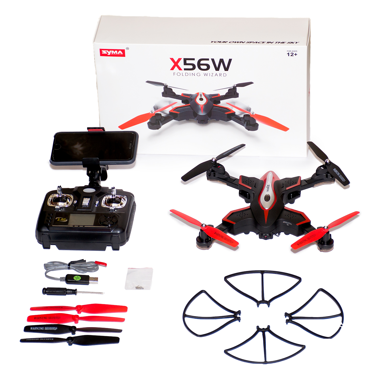 Syma X56W Обзор Плюсы и минусы складного квадрокоптера
