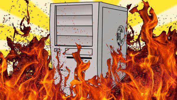 Почему компьютер выключается и нагревается