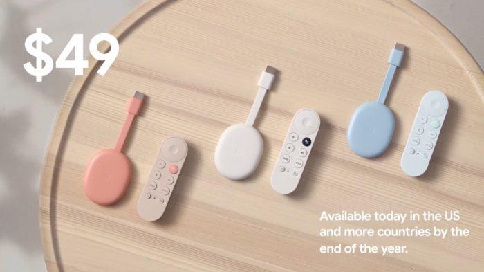 Новый Chromecast с интерфейсом Google TV 2020